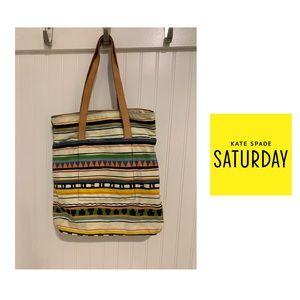Kate Spade Saturday geometric print tote bag
